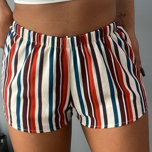 Colourful Striped Shorts